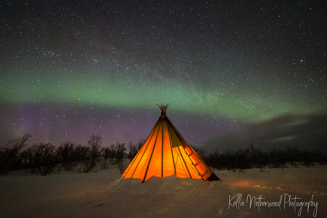 Northern lights photography Abisko Sweden