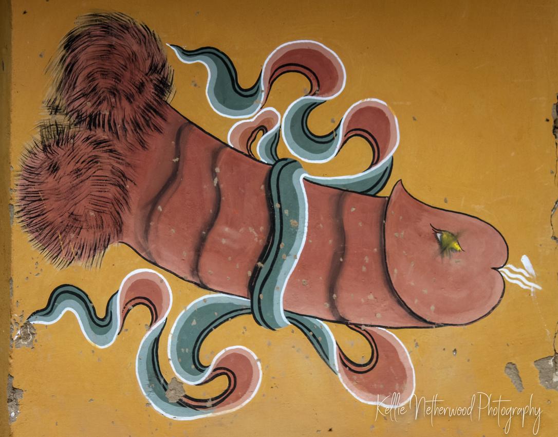 Phallic painting Bhutan