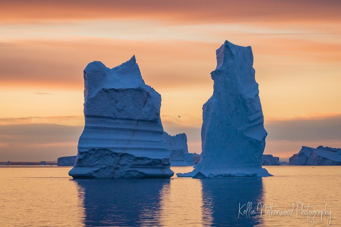 Iceberg at sunrise East Greenland