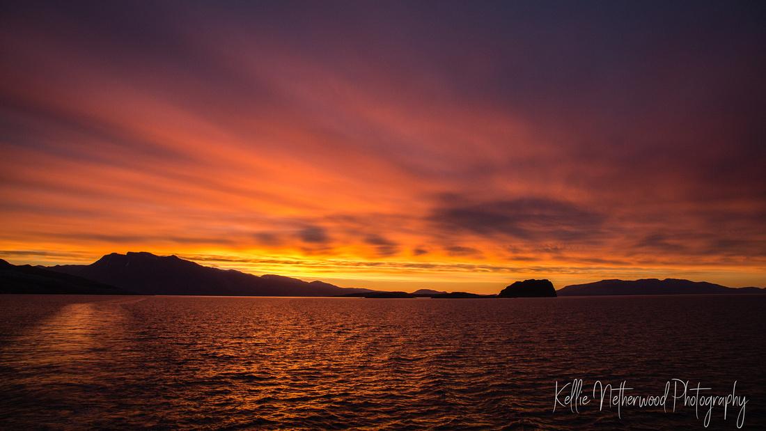 East Greenland sunrise