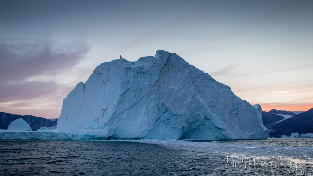 Sunset Maagetuen East Greenland